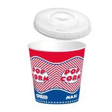 Kbelík papírový popcorn TO GO 2,5 L s víčkem