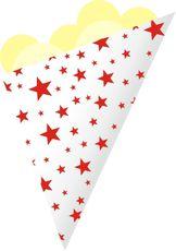Kornout papírový STAR MAXI červený