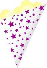 Kornout papírový STAR MINI fialový