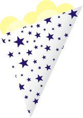 Kornout papírový STAR MINI modrý