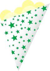 Kornout papírový STAR MINI zelený