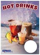 Plakát Hot Drinks A4 ceník