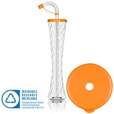 Pohár 350 ml PLAIN oranžový 54 ks