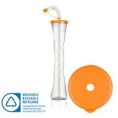 Pohár 400 ml PLAIN oranžová 54 ks