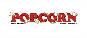 Samolepka Popcorn Bílá