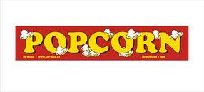 Samolepka Popcorn Červená