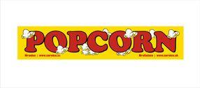 Samolepka Popcorn Žlutá