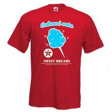 Tričko Cukrová Vata červené