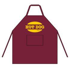 Zástěra Hot Dog fialovo hnědá