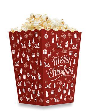 Krabička 3,0 L popcorn MIDI Xmas Vánoce