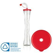 Pohár 400 ml PLAIN červený 54 ks