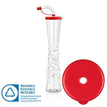 Pohár 500 ml PLAIN červený 54 ks