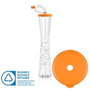 Pohár 500 ml PLAIN oranžový 54 ks