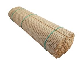 Špejle hranaté 40 cm × 4 mm dřevěné 500 ks